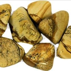 Trumblad Sten Kalahari Jaspis  2-3 cm