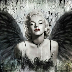 Diamanttavla Marilyn Monroe Wings 50x50