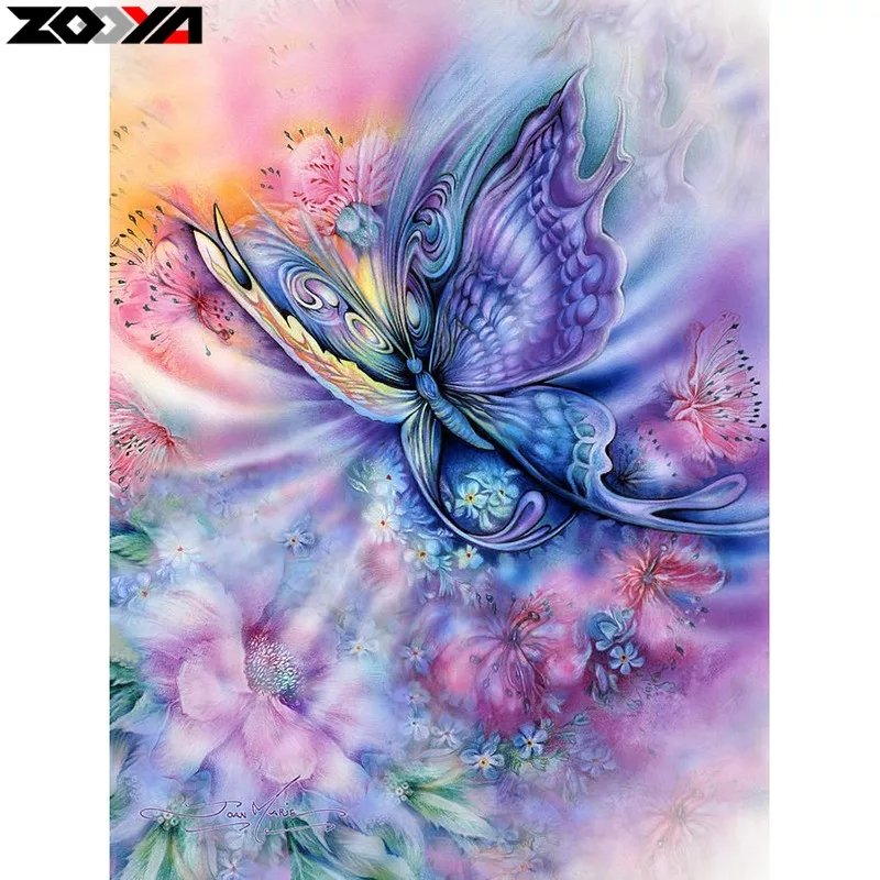 Diamanttavla Colourful Butterfly 30x40