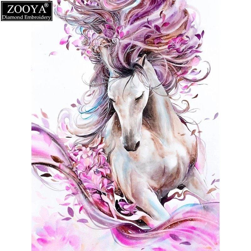 Diamanttavla Colorful Horse 40x50
