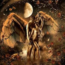 Diamanttavla Angel Lovers 50x50
