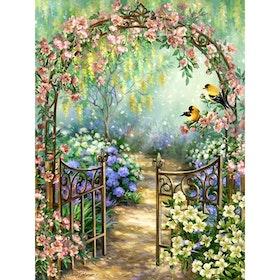 SNART I BUTIK - Diamanttavla Flowergarden 40x50