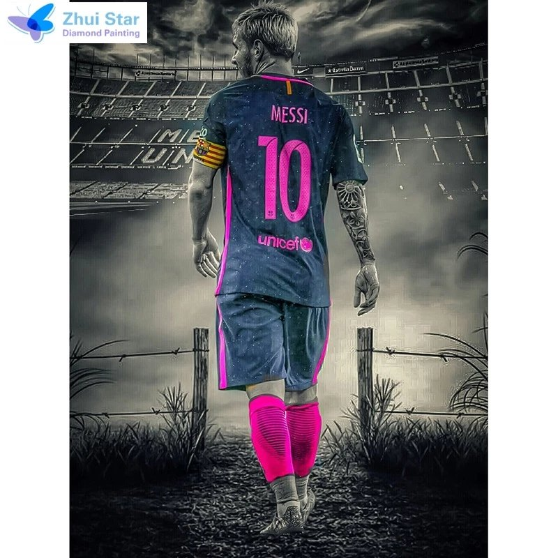 Diamanttavla Messi 40x50