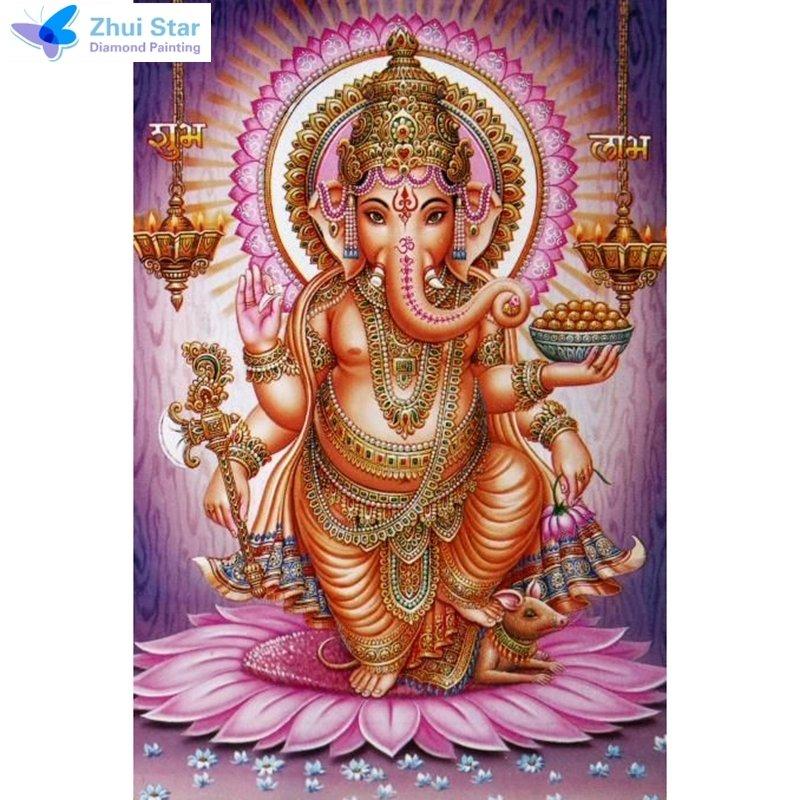 Diamanttavla Ganesha 40x60