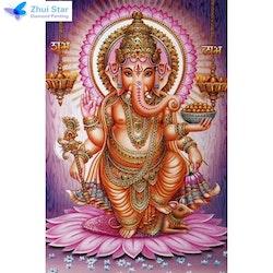 Diamanttavla Ganesha 40x50