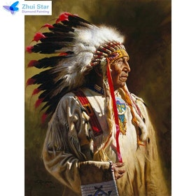 Diamanttavla Indian 40x50
