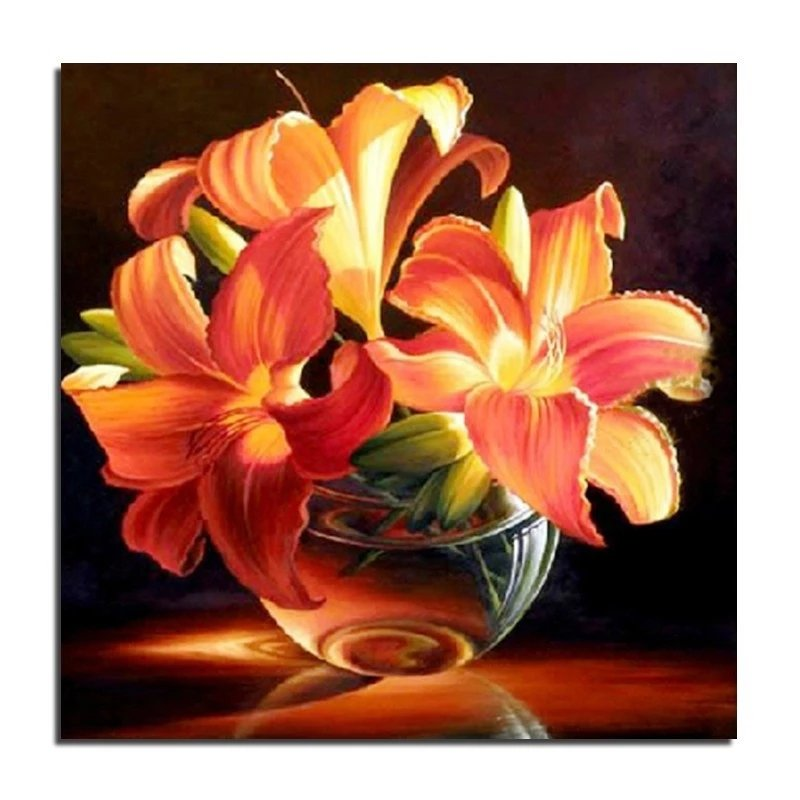 Diamanttavla Lily 40x40