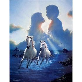 Diamanttavla Horses Love 40x50.
