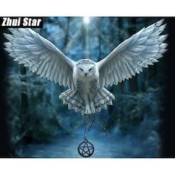 Diamanttavla Owl Fantacy 40x50.
