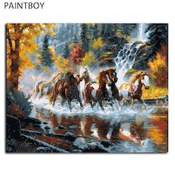 Paint By Numbers Forest Horses 40x50