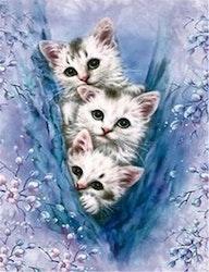 SNART I BUTIK - Diamanttavla (R) Three Little Kittens 40x50