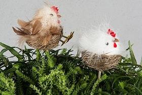 Stick Kyckling I rede Brun 8 cm