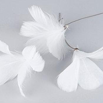 Fjäder blom Vit 12 st
