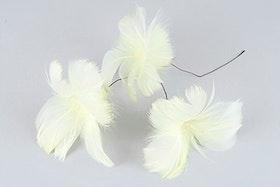 Fjäder blom Gul 12 st
