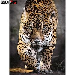 SBART I BUTIK - Diamanttavla Predatory Leopard 40x50