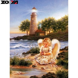 Diamanttavla Angel By The Sea  40x50