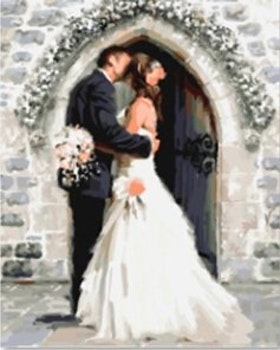 Paint By Numbers Just Married 40x50