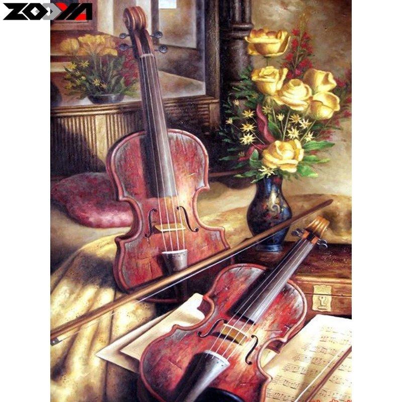 Diamanttavla Violins 40x50