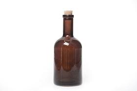 Dekoration Glasflaska Med kork Brun 400 ml 8x18 cm