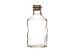 Dekoration Glasflaska Med kork KLar 250 ml 7.2x12 cm