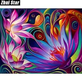 Diamanttavla Colorful Flower 30x40