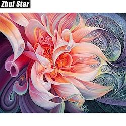 SNART I BUTIK - Diamanttavla Colorful Peony 30x40
