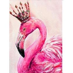 Diamanttavla Flamingo Queen 40x50.