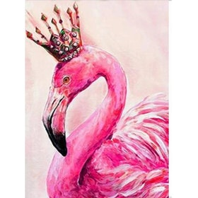 Diamanttavla Flamingo Queen 40x50.