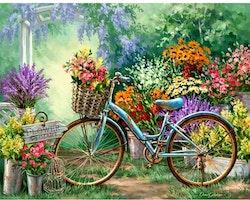 Diamanttavla Garden Bike 40x50