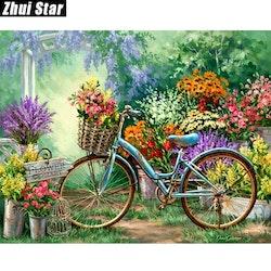 Diamanttavla Garden Bike 40x50.