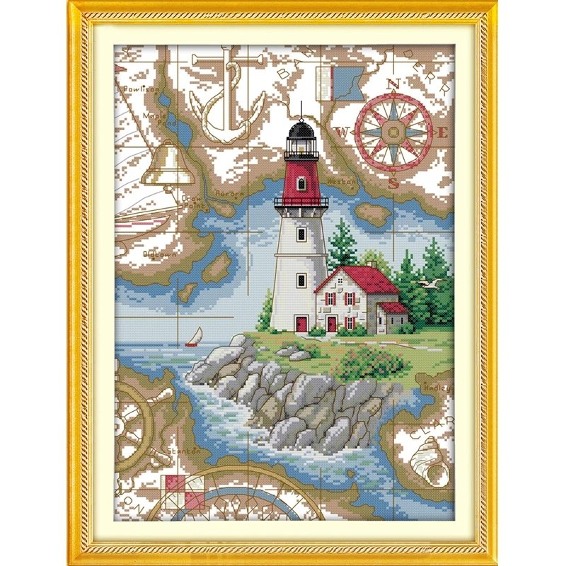 Korsstygnsbroderi The Lighthouse 33x44