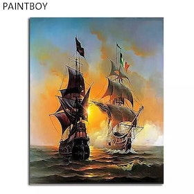 Paint By Numbers Two Ships