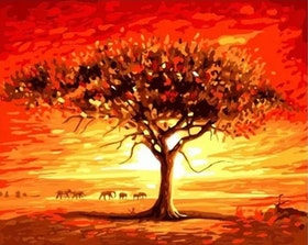 Paint By Numbers African Tree