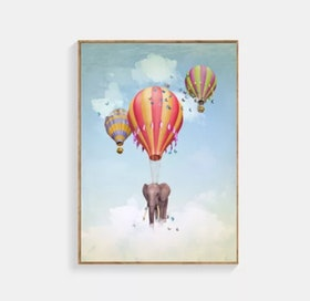 Poster Elephants Up In The Air 30x40