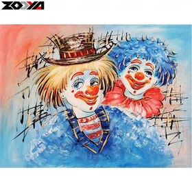 Diamanttavla Music Clowns 40x50