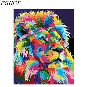 Paint By Numbers Color Lion 40x50