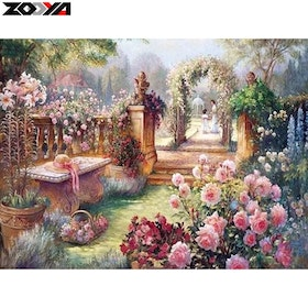 Diamanttavla Rose Garden 40x50