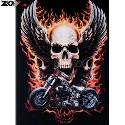 Diamanttavla Bike Skull 40x50