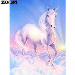 Diamanttavla Unicorn Heaven 40x50