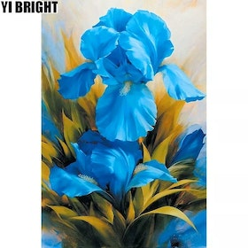Diamanttavla Blue Lily 30x40