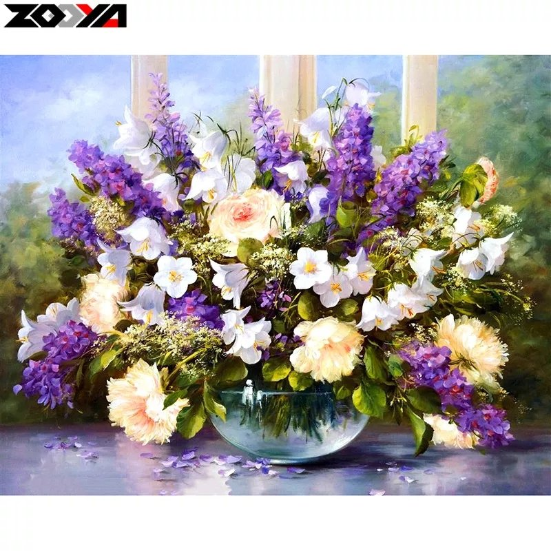 Diamanttavla Summerflowers 40x50