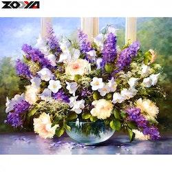 Diamanttavla Summerflowers 40x50