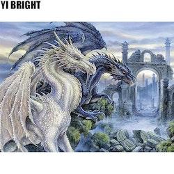 Diamanttavla Dragon Castle 40x50