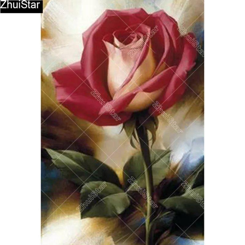 Diamanttavla Rose 30x40