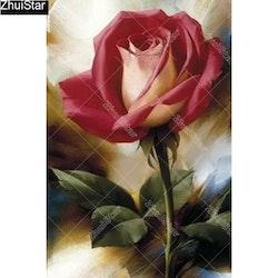 Diamanttavla (R) Rose 30x60