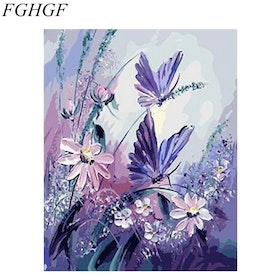 Paint By Numbers Butterfly And Flowers 40x50