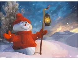 Paint By Numbers Snowman 40x50