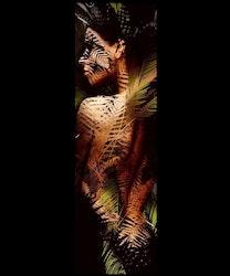 Diamanttavla Djungel Woman 30x100