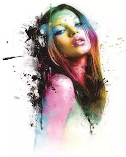 Diamanttavla Colorful Lady 40x50
