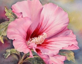 Diamanttavla Fantastic Pink Flower 30x40